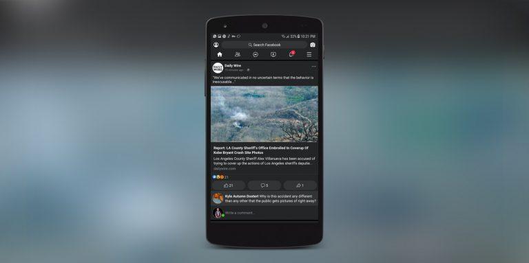 Facebook Lite Dark Mode expected to make it's way to the original Facebook App